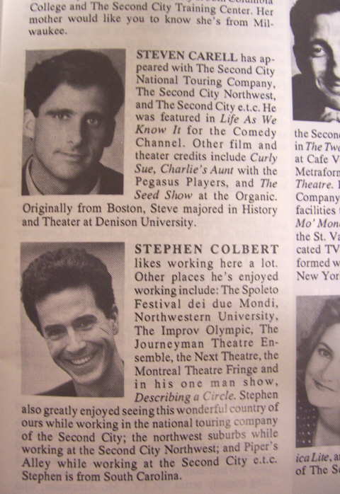 Vintage Colbert and Steve Carell