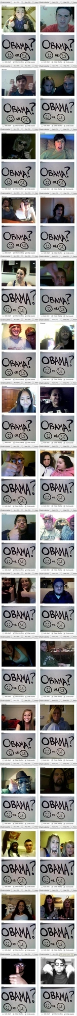 Chatroulette Rates Obama