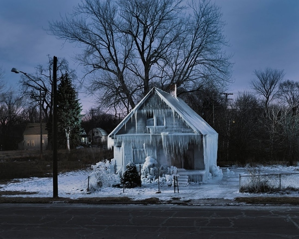 Frozen House in Detroit