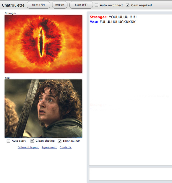 Frodo & Sauron On Chatroulette
