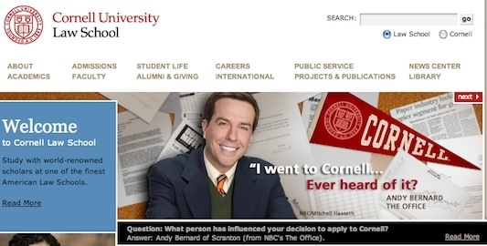 Cornell Law School's Newest Spokesperson