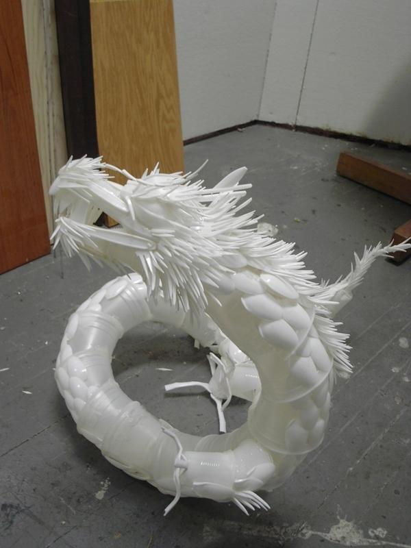 Plastic Cutlery Dragon