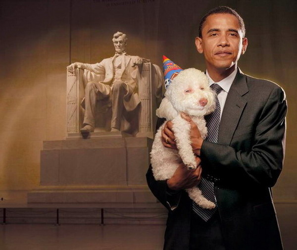 Obama and Birthday Dog !