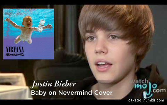 Justin Bieber is Nevermind Baby Model