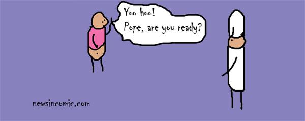 Gay Pope Joke, Comic