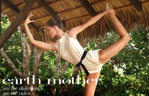 Gisele Bundchen Does Unidentified Yoga Pose in Vogue