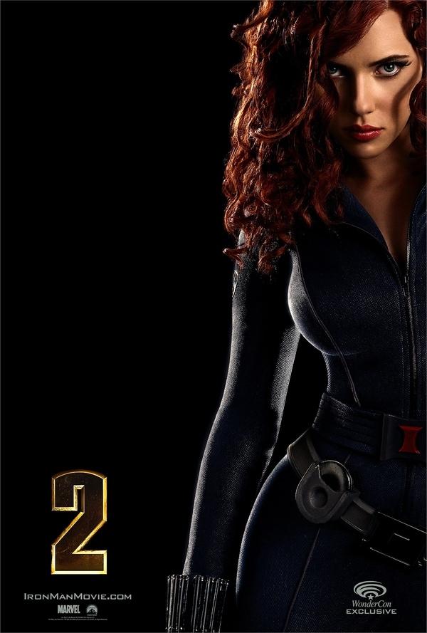 Scarlett Johansson's Dangerously Hot Iron Man 2 Poster