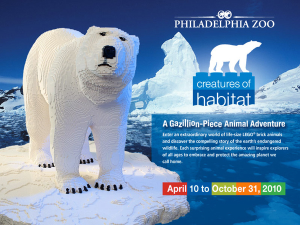 Life Sized LEGO Polar Bear