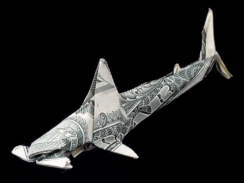 Money Origami Hammerhead Shark