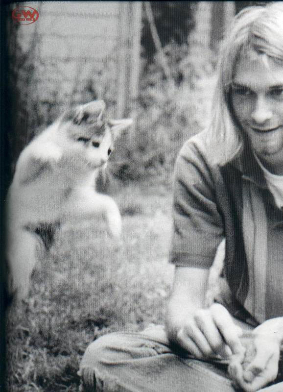 Kurt Cobain And A Cat