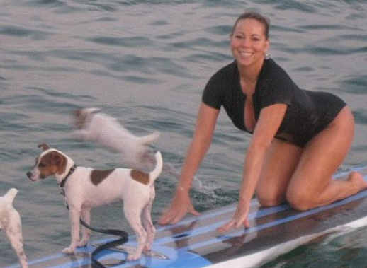 Mariah Carey Surfs Doggy Style