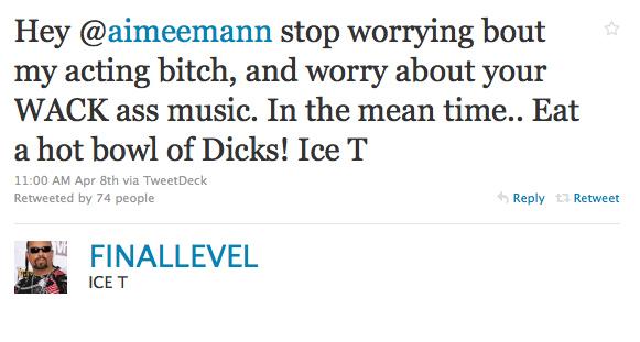 Twitter Feud: Ice T Vs. Aimee Mann