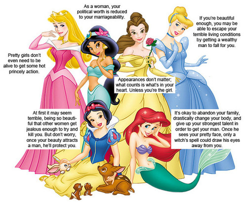 What Disney Princesses Teach Girls