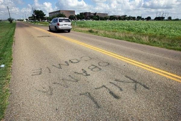 Graffiti Hates Obama, Fails Spelling
