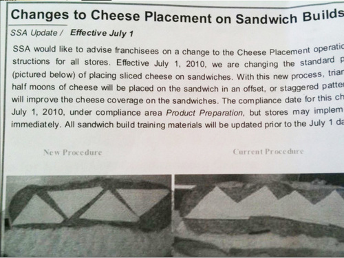 Subway Finally Agrees to Tessellate Cheese