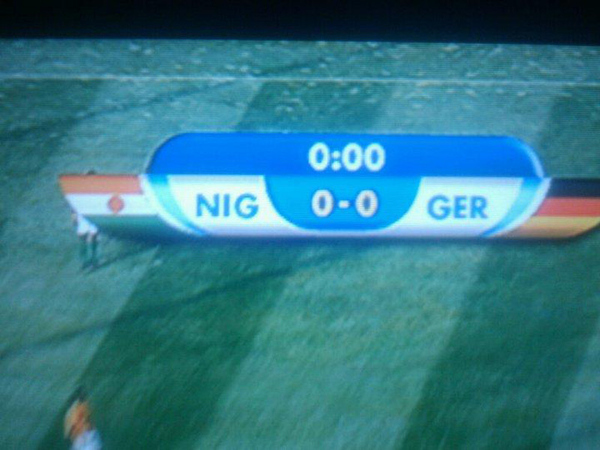 Niger Vs. Germany Soccer Broadcast Failure