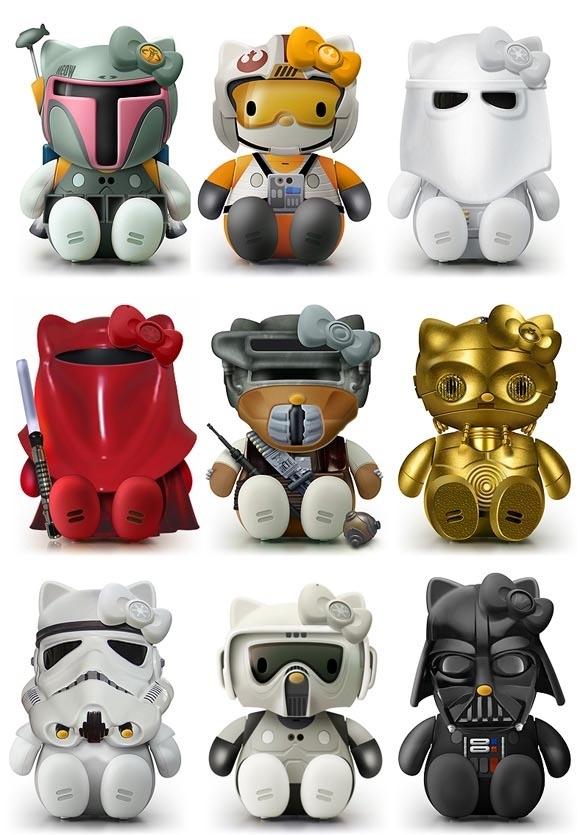 Star Wars Hello Kitty Model Kits