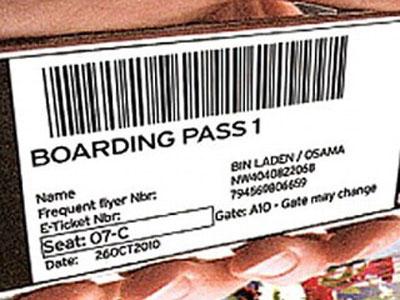 British Airway's Osama Bin Laden Boarding Pass
