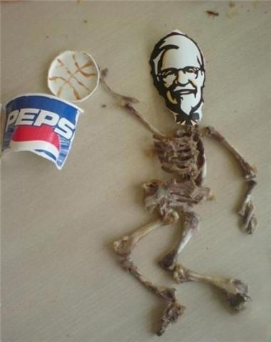 KFC Chicken Bone Art