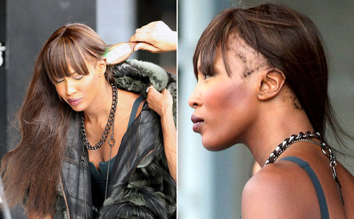Naomi Campbell Bald As Britney Spears