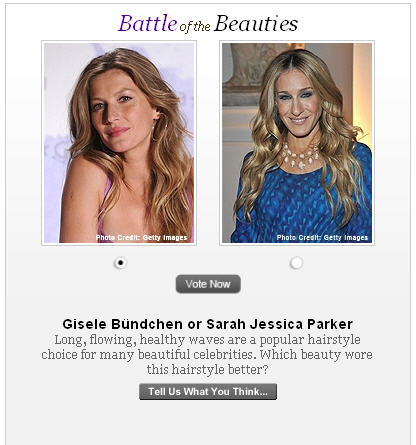 Gisele Bundchen Vs. Sarah Jessica Parker in a Battle of the Beauties Contest? FAIL!