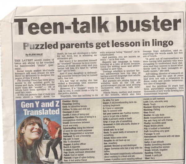 A Lesson in Teen Lingo!