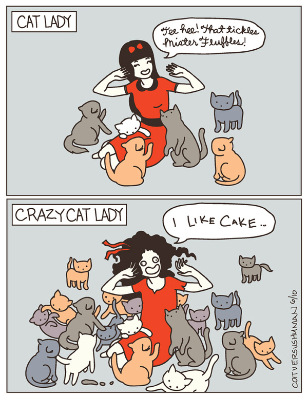 Cat Lady Or Crazy Cat Lady?
