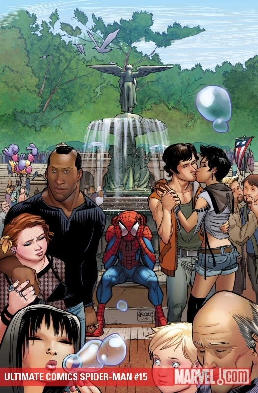 Gay Couple On Spiderman Cover