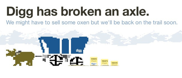 Digg Oregon Trail Themed Error Page