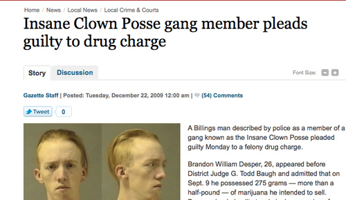 Insane Clown Posse Member Does Not Plead Insanity