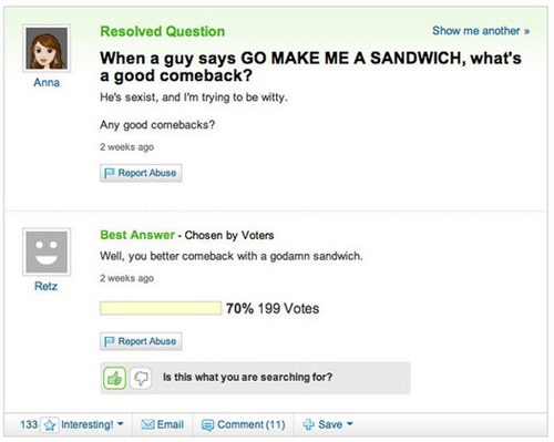 50 Hilarious Yahoo! Answers