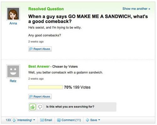 50 Hilarious Yahoo! Answers