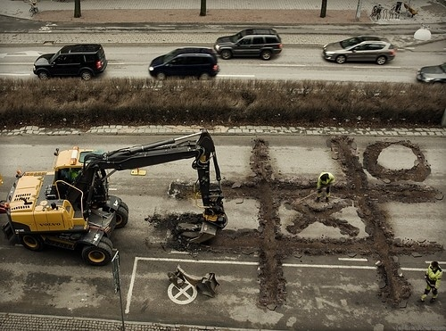Bored Construction Workers