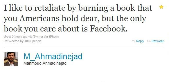 Nejad Will Burn Our FaceBook