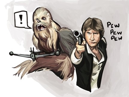"Han ""Pew Pew Pew""d First"