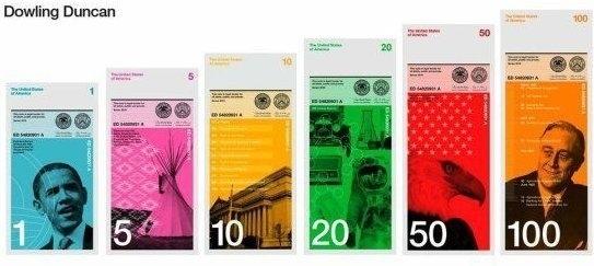 New Modern Design For U.S. Dollar Bill