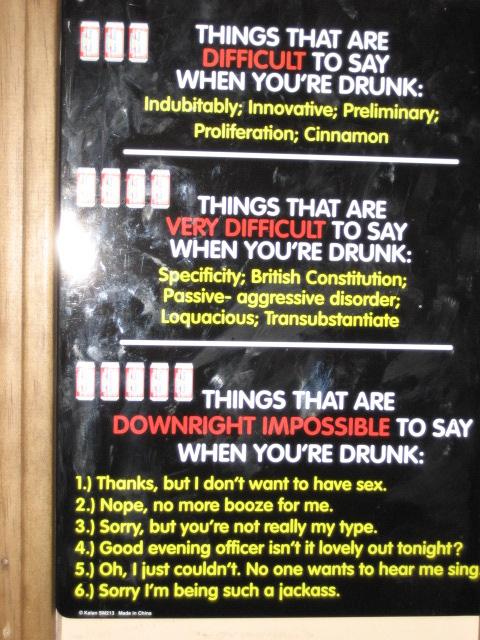 Advice For A Bar Fly