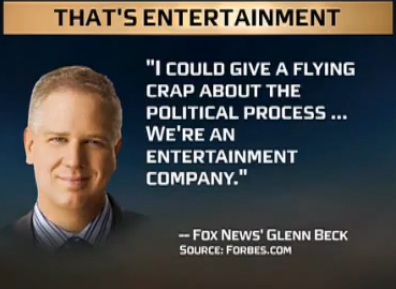 Glenn Beck Comes Clean, Not To Be Trusted As News