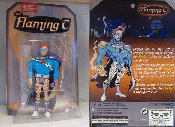 "Conan's ""Flaming C"" Action Figure"