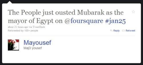 Mubarak, Mayor Of Egypt Ousted