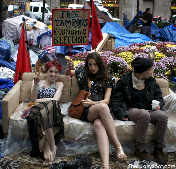 Occupy Wall Street: Free Tampons to Stop Economic Bleeding