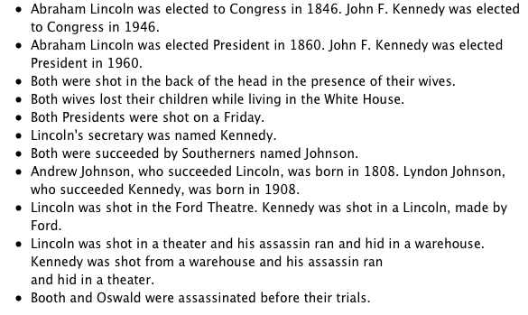There Are Weird Similarities Between Abraham Lincoln and John F. Kennedy.