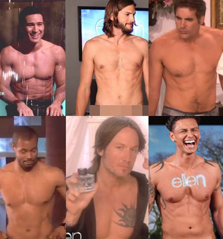 Every Shirtless Celebrity On Ellen