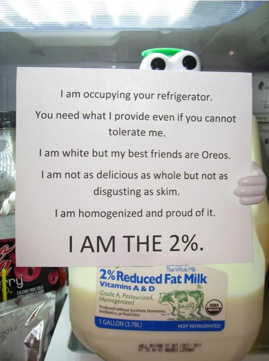 2% Occupy the Fridge