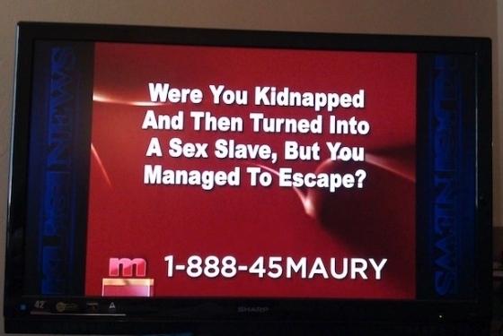 Maury Seeking Escaped Sex Slaves
