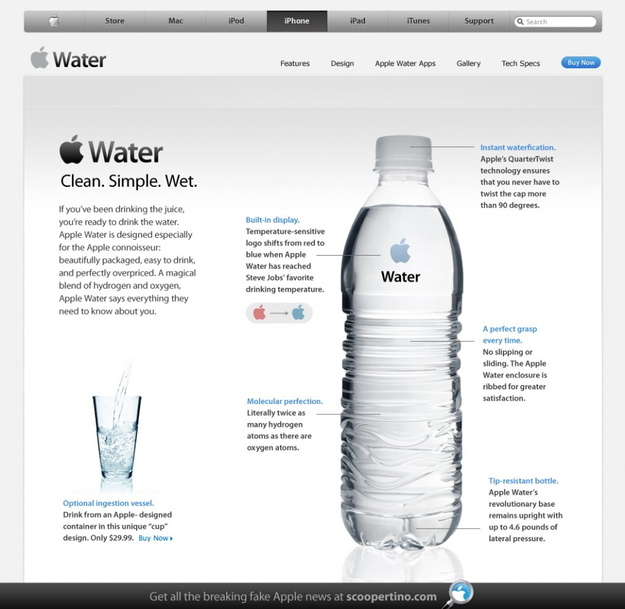 If Apple Sold Water...iWater