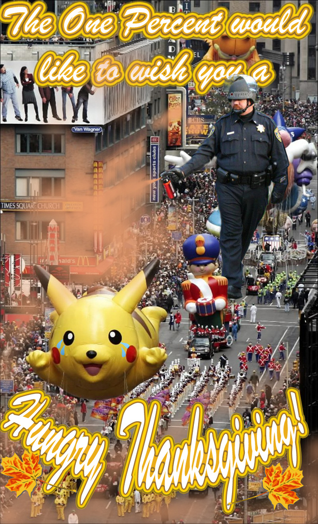 Pepper Spray Cop and the One Percent Macy's Day Parade