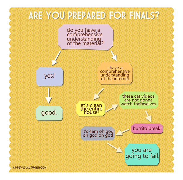 Flowchart: Are You Prepared for Finals?