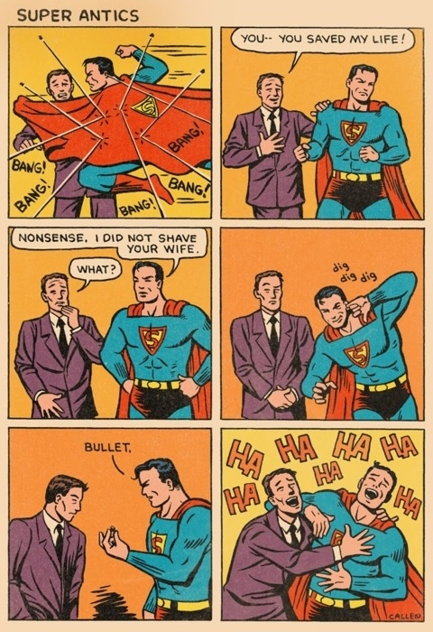 Superman Has a Close Shave!