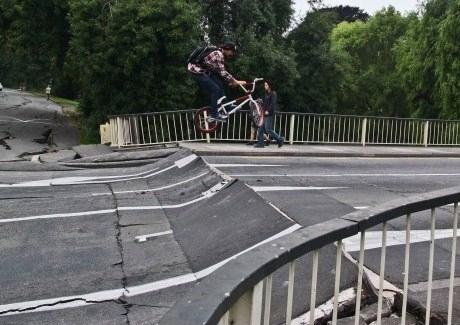 Post-Quake Bike Ramp